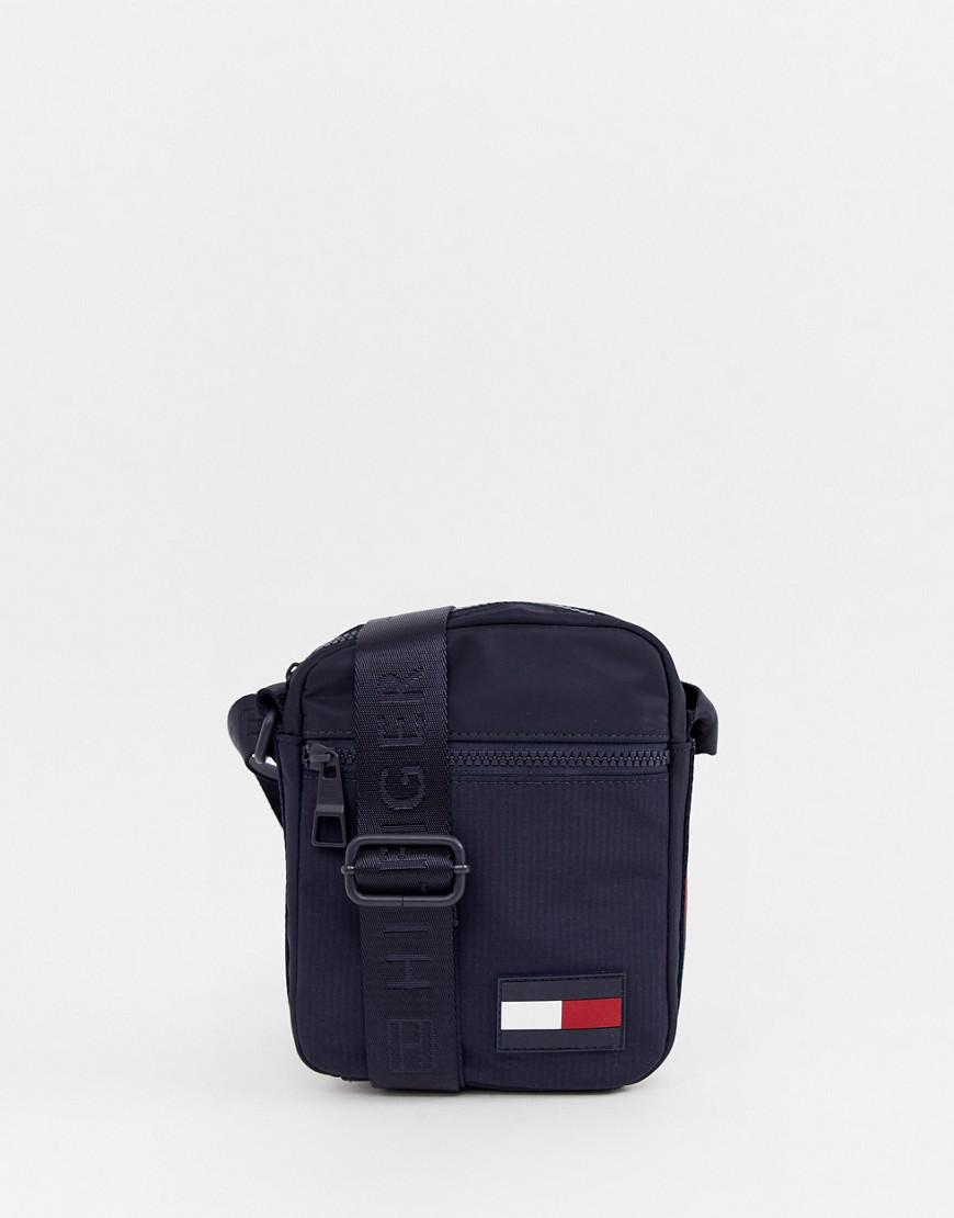 cbe5c6479c Tommy Hilfiger Nylon Icon Flag Logo Mini Crossbody Bag In Navy in Blue for  Men - Lyst
