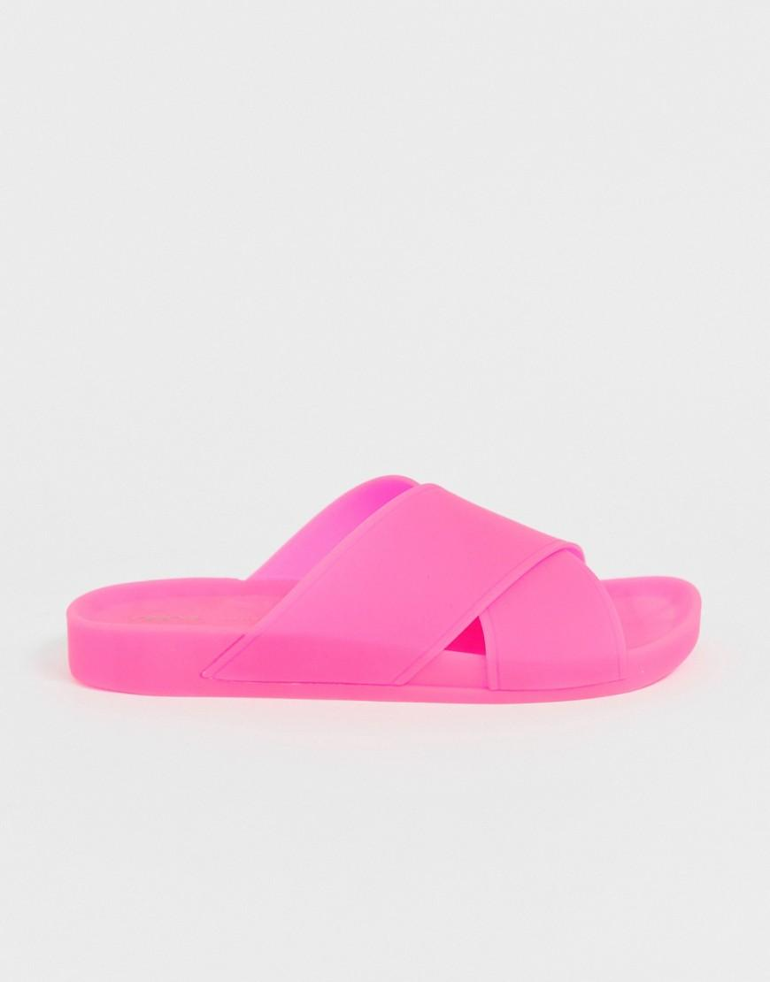 54eca7861281 Lyst - ASOS Fruity Jelly Flat Sandals in Pink