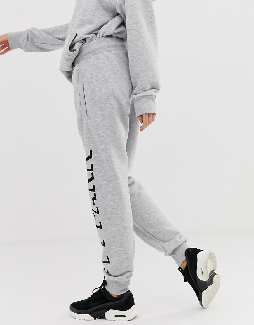 6e2ffd658310a Lyst - Ivy Park Logo joggers In Grey in Gray