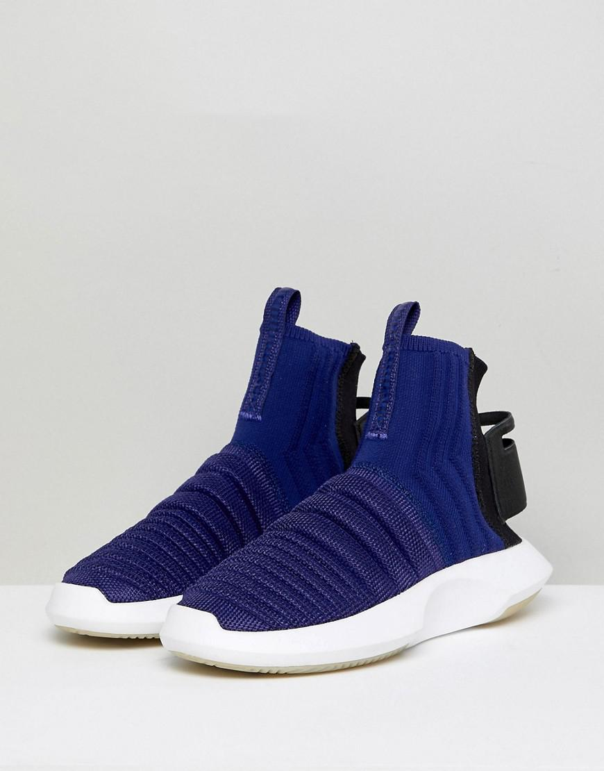 online store de93f b8fae Lyst - adidas Originals Crazy 1 Adv Sock Primeknit Sneakers In Blue in Black