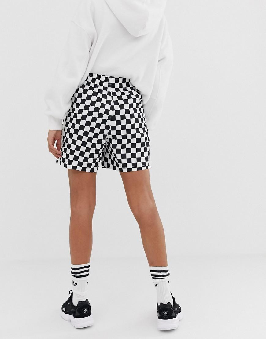 907a7cc8d7 adidas Originals Checkerboard Short In Black And White in Black - Lyst