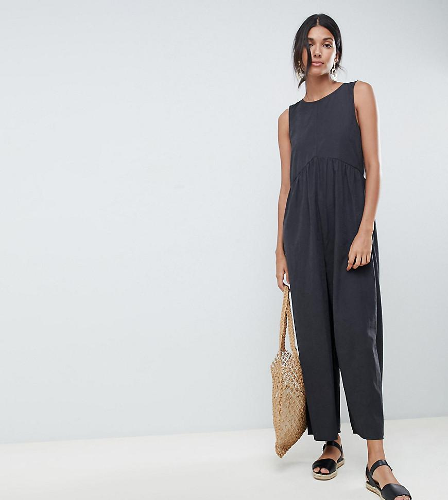 cfbee77dbcc Lyst - ASOS Asos Design Tall Minimal Jumpsuit With Ruching Detail in ...