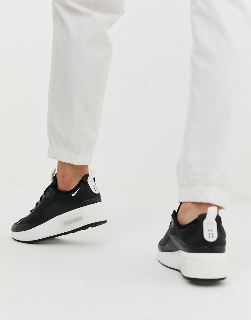 low priced 11e79 16693 nike air max dia black Nike Black Air Max Dia Trainers in Black - Lyst