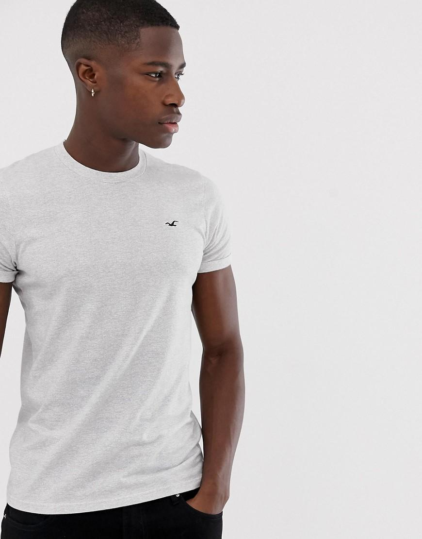 07f83b46 Hollister Icon Logo Slim Fit T-shirt In White Streaky Marl in White ...