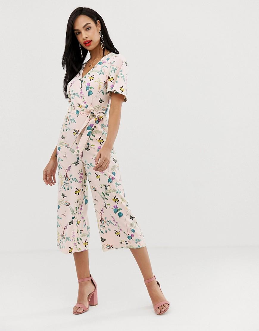 430c36a59115 Oasis. Women s Angel Sleeve Jumpsuit In Floral Print