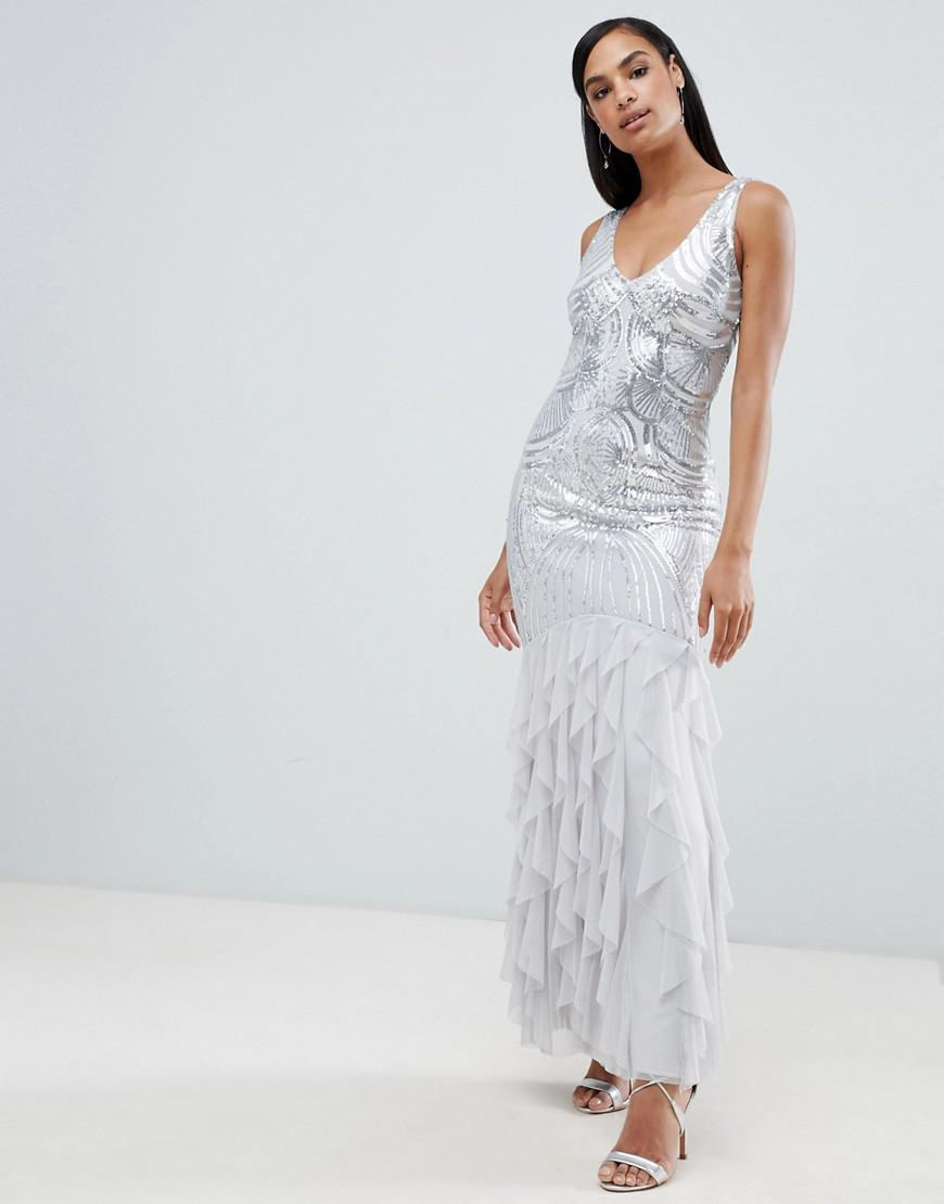 dce7c241 Lipsy Sequin Top Maxi Dress Asos - raveitsafe