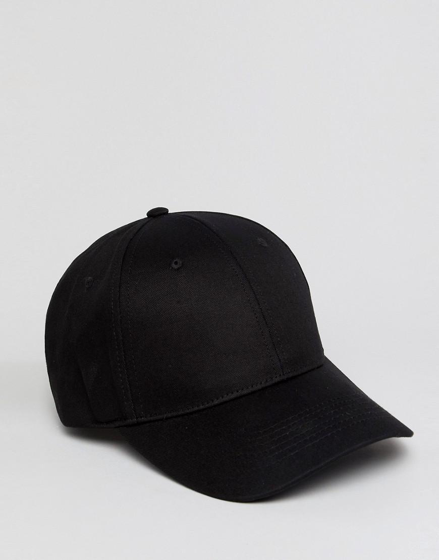 929f42b52a7 Lyst - Asos Design Baseball Cap In Black in Black for Men