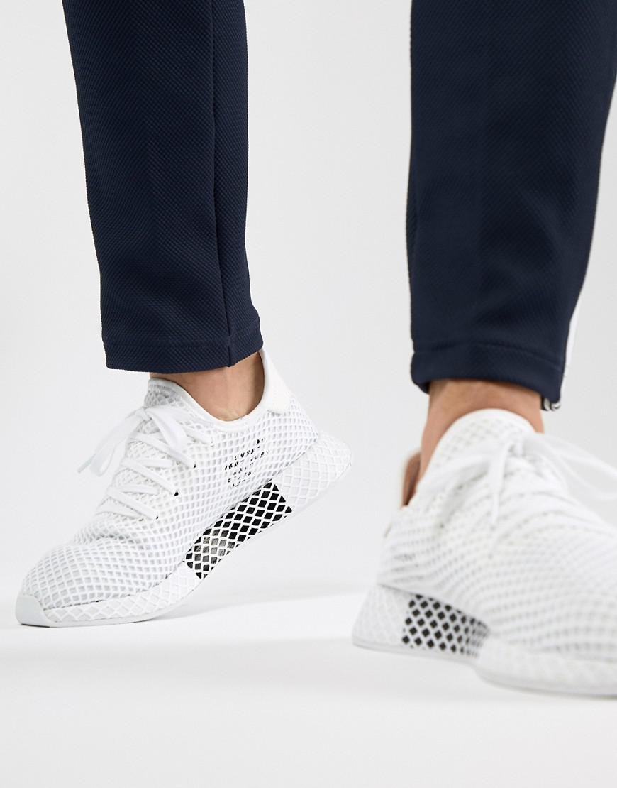 free shipping outlet store adidas Originals Deerupt Trainers In White And Lilac latest cheap sale discount get to buy sale online VMnjs6y