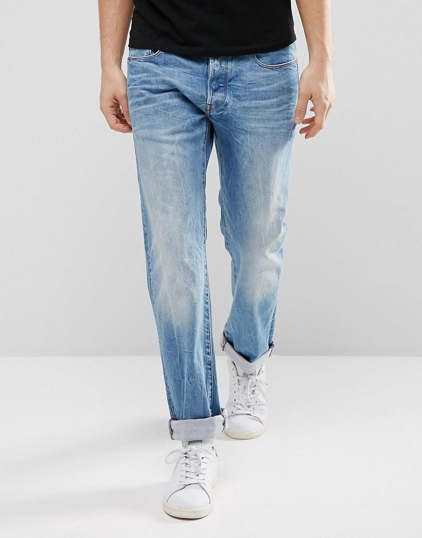 b36dc77802a Lyst - G-Star RAW 3301 Straight Hadron Stretch Jeans Medium Aged ...