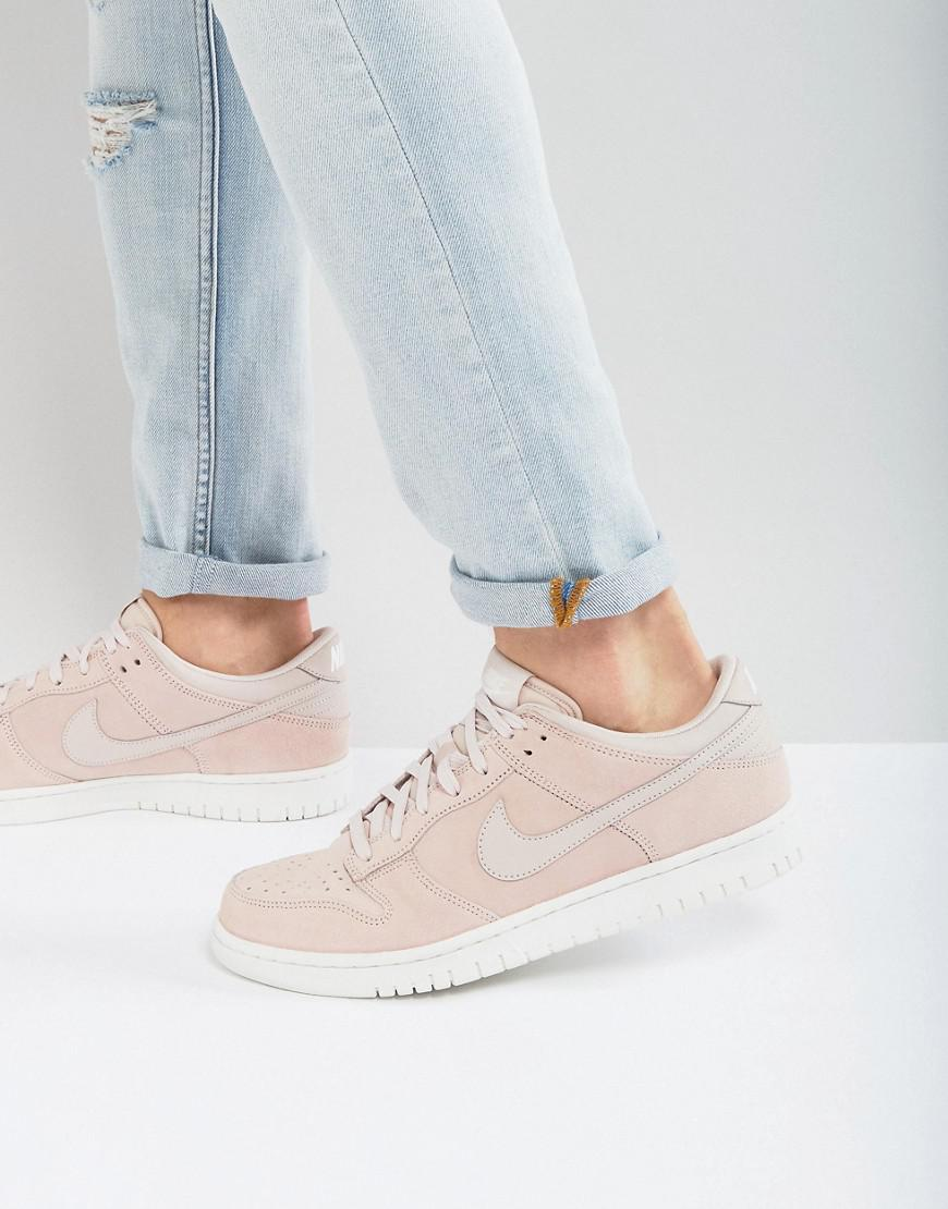 e8aa7eca696f Nike Dunk Low Trainers In Pink 904234-603 in Pink - Lyst