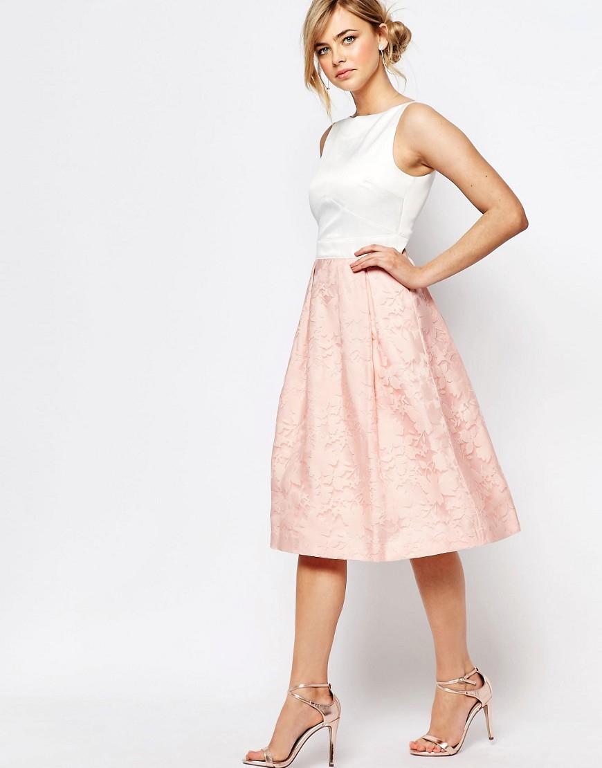 f0902f2d2f5 Lyst - Oasis Organza Midi Dress - Pink in Pink