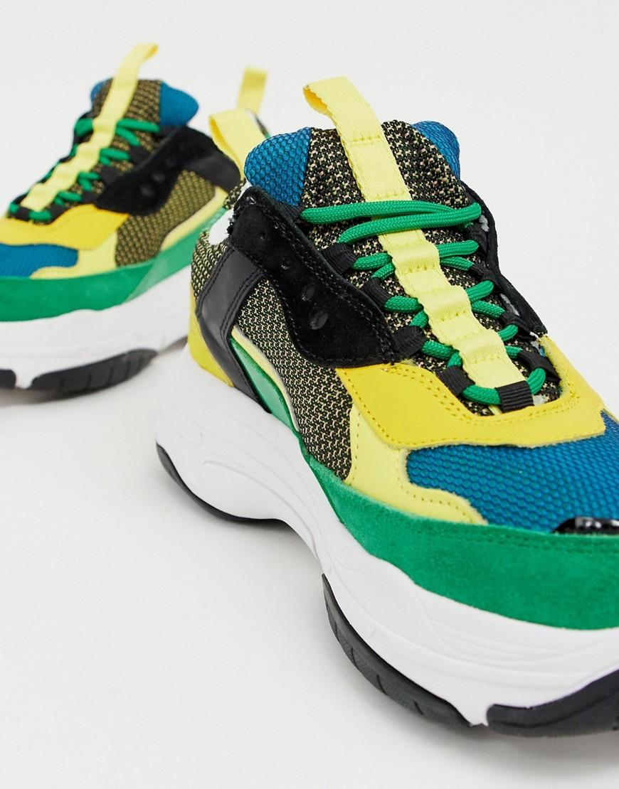 3461a35fc2b1d7 Calvin Klein Marvin Chunky Trainers In Green Multi in Green for Men - Lyst