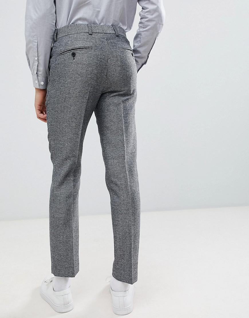 9b83bb5f44ac Lyst - French Connection Slim Fit Gray Herringbone Suit Pants in Gray for  Men