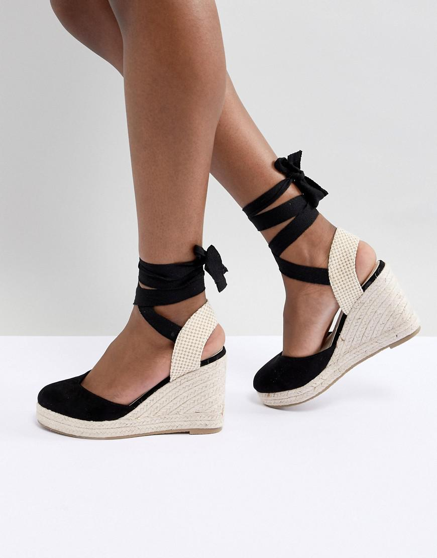 b4cd9d20afc8 Pimkie Espadrille Wedges in Black - Lyst