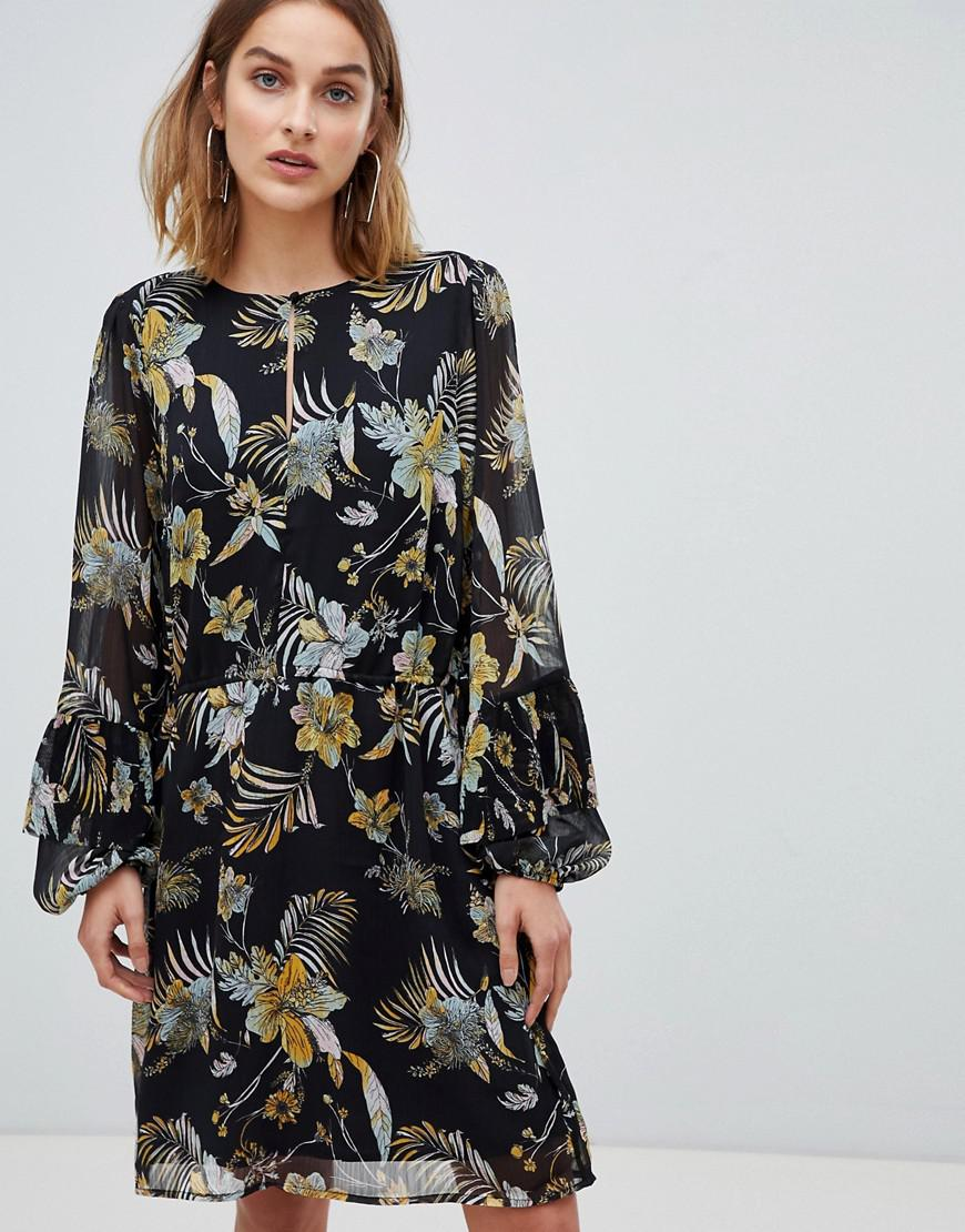5012625de17 Gestuz Maui Floral Print Dress in Black - Lyst