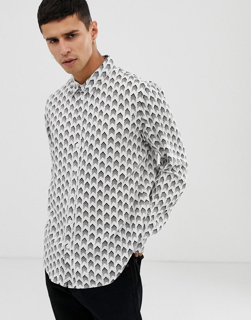 Lyst Another Influence Arrow Print Long Sleeve Shirt For Men
