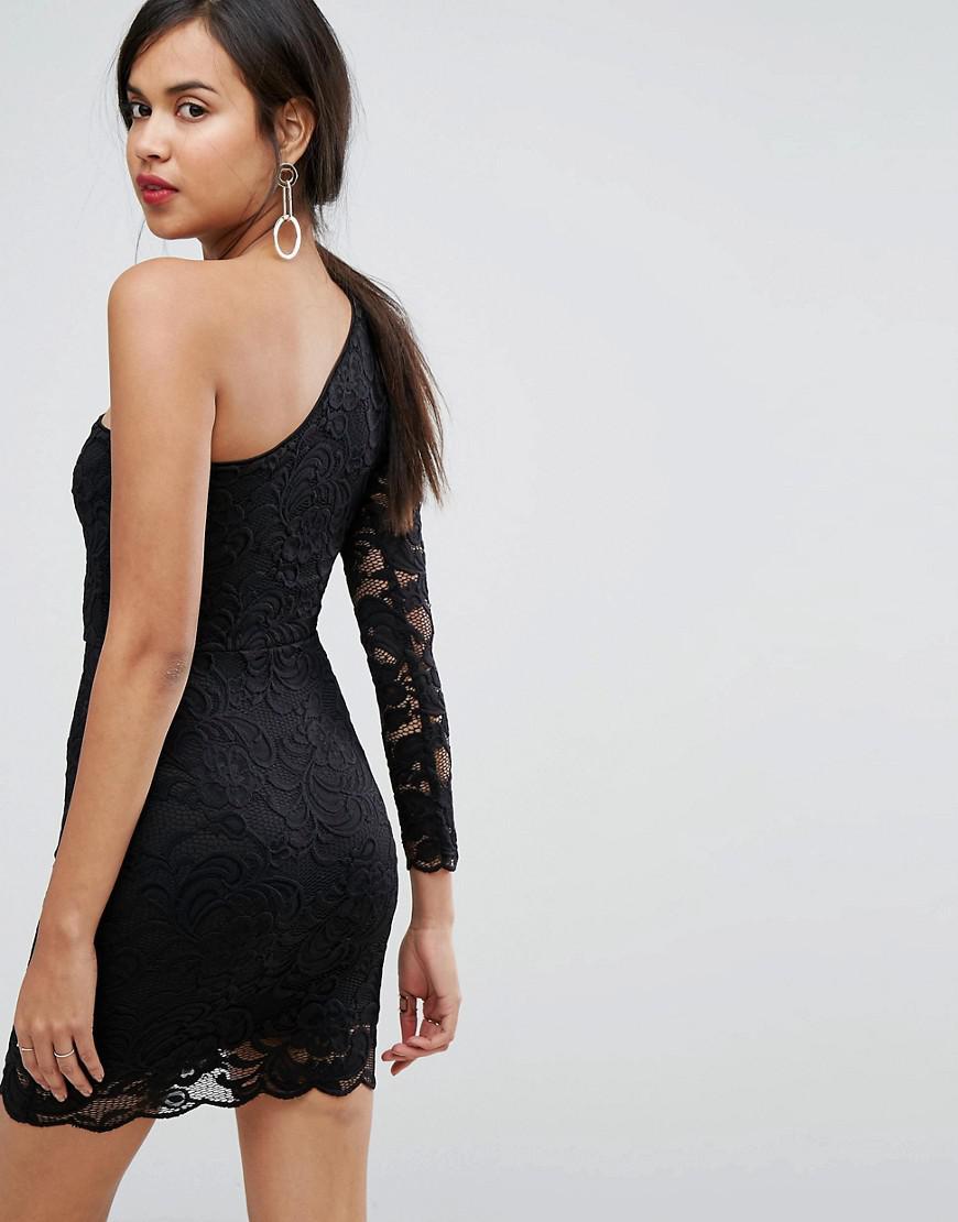 478d011b430 Lyst - Robe courte et asymtrique moulante en dentelle Ivyrevel en coloris  Noir