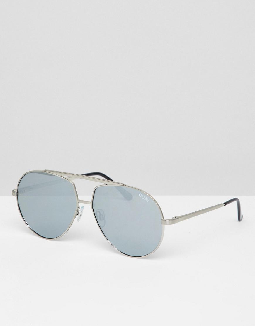 c3701d7b560a57 Quay Quay Aviator Sunglasses In Silver in Metallic - Lyst