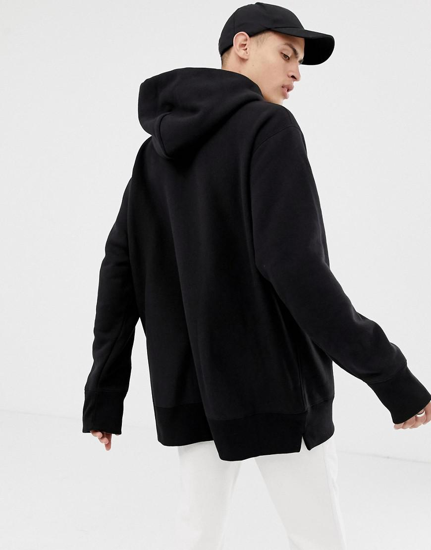 6377ba94985b Champion Reverse Weave Oversized Hoodie With Small Script Logo In Black in  Black for Men - Lyst