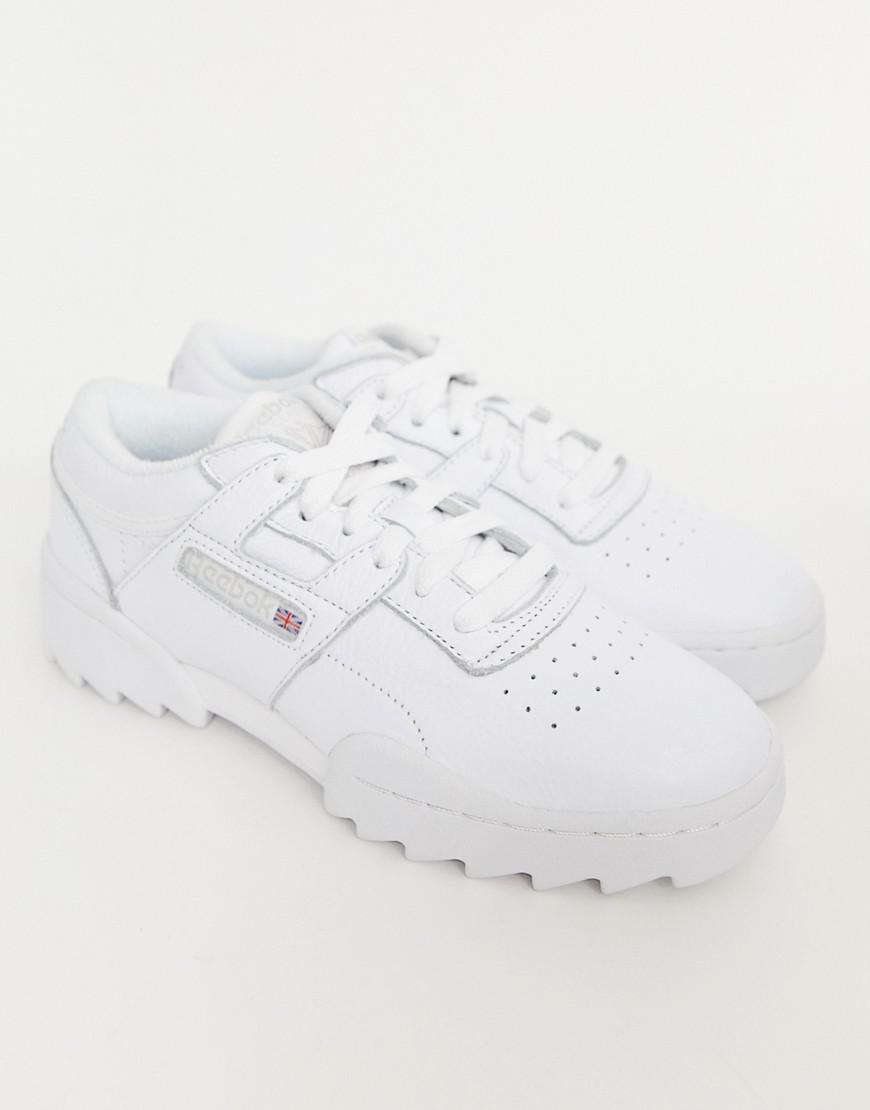 bd2178b56 Reebok - White Workout Ripple Og Sneakers - Lyst. View fullscreen