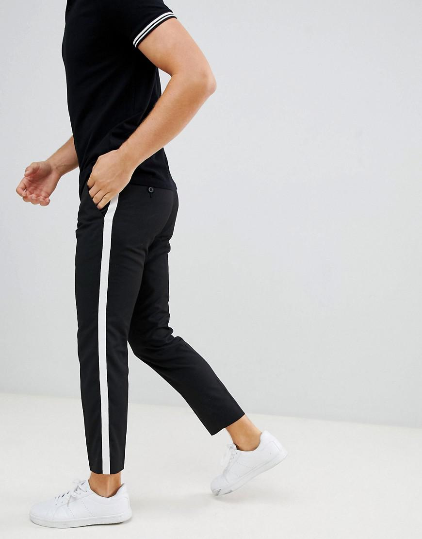 fb97b87f3 Lyst - Moss Bros Moss London Skinny Fit Pants With Side Panel in ...