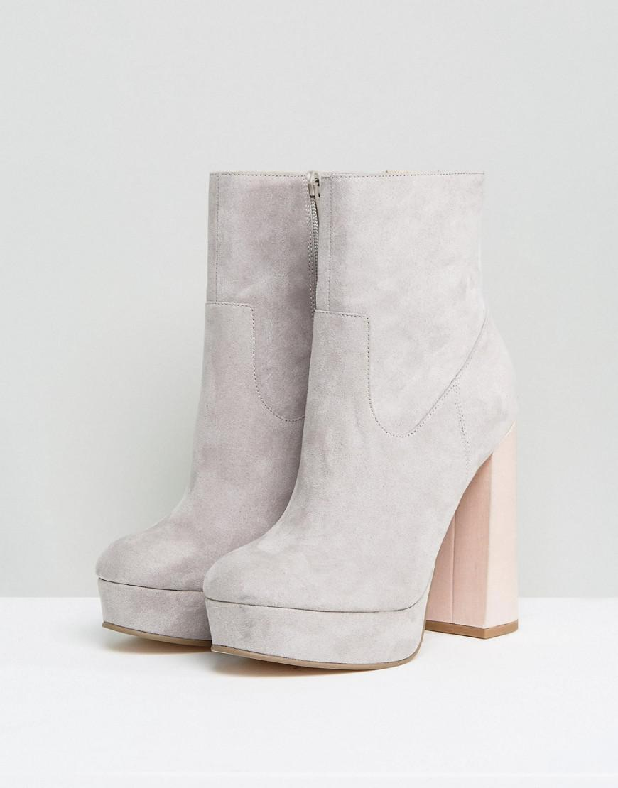 adec50dd285 Lyst - ASOS Escape Platform Boots in Gray