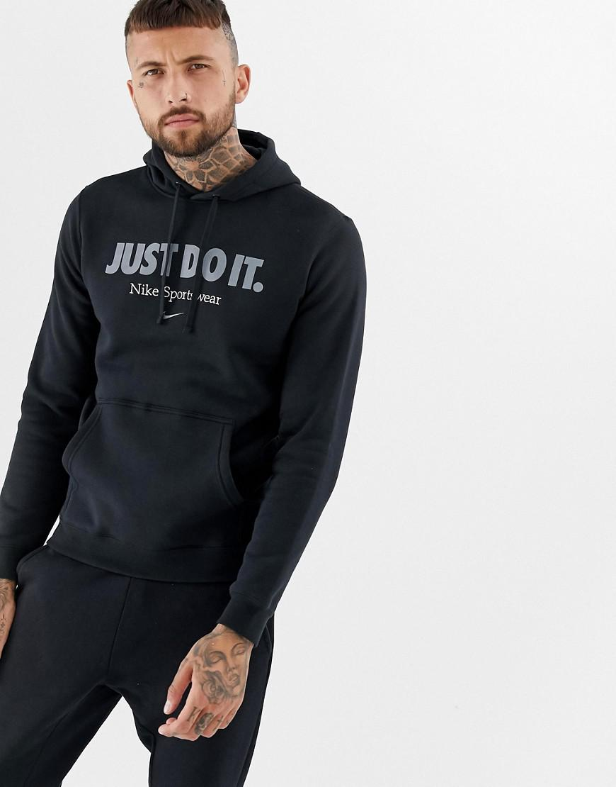 29a854171dfa6f Nike Embroidered Logo Hoodie In Black Aq7137-010 in Black for Men - Lyst