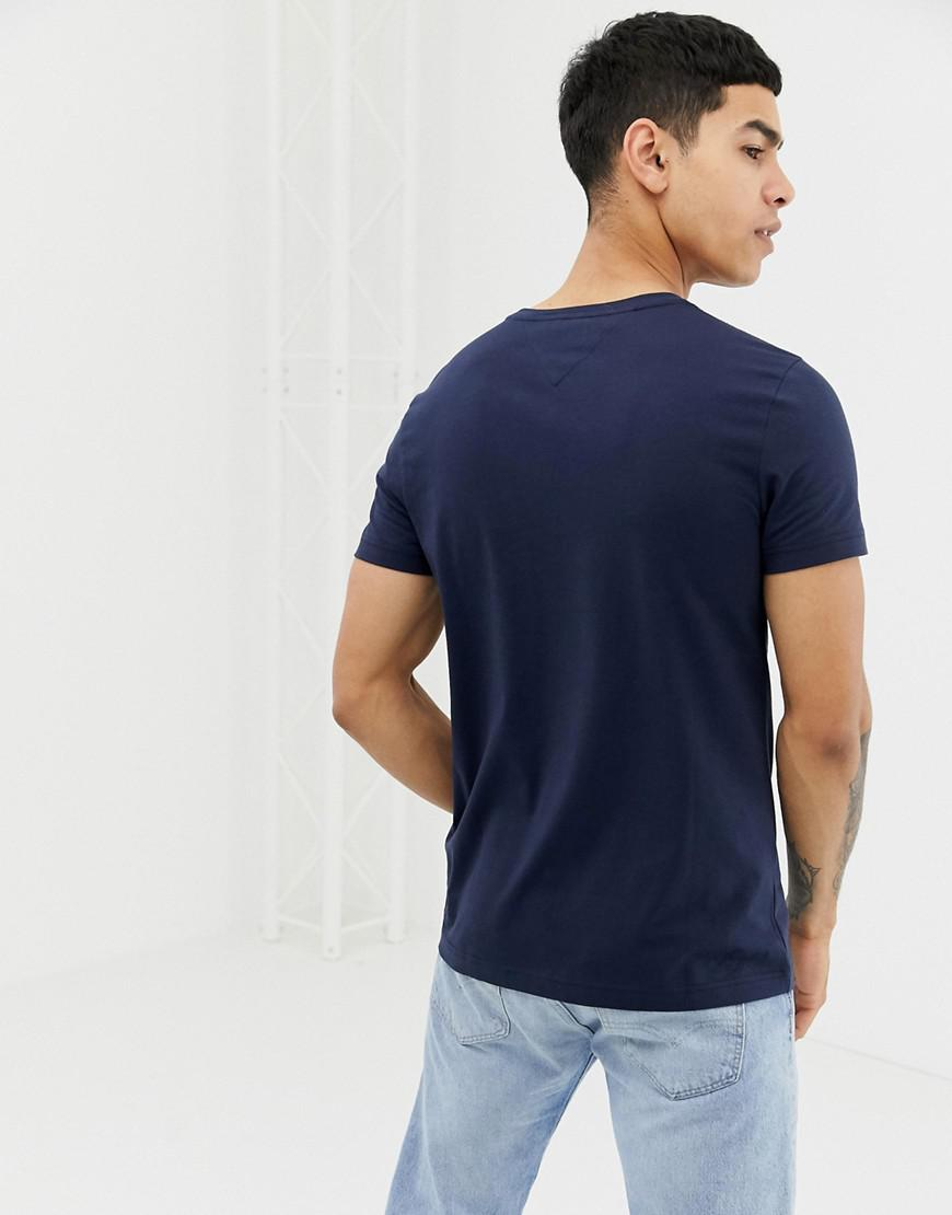 e5cbc0051 Tommy Hilfiger T-shirt With Flag Logo In Stretch Slim Fit Navy in Blue for  Men - Lyst