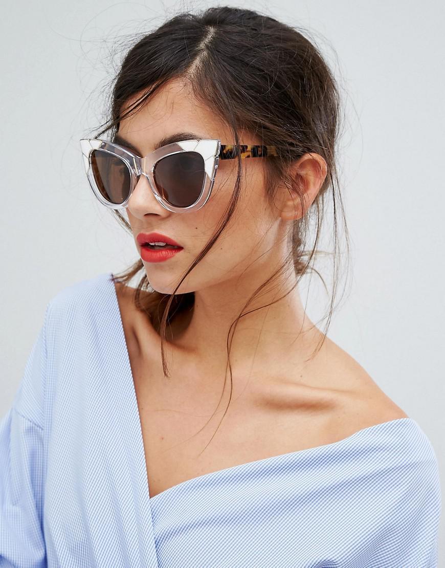18cb571ed168 Pared Sunglasses Pared Cat Eye Sunglasses In White & Gold - Lyst