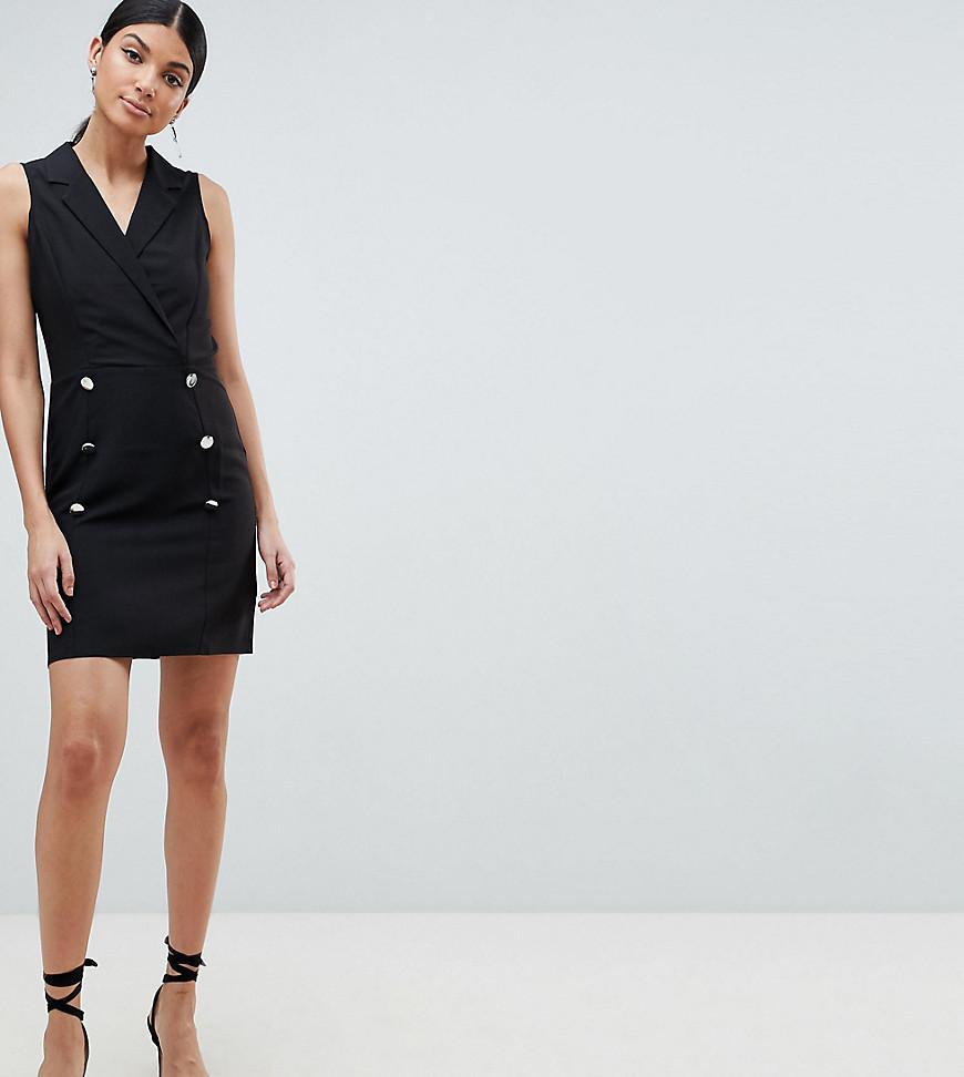e99d4d52c85e ASOS Asos Design Tall Ultimate Sleeveless Mini Tux Dress in Black - Lyst