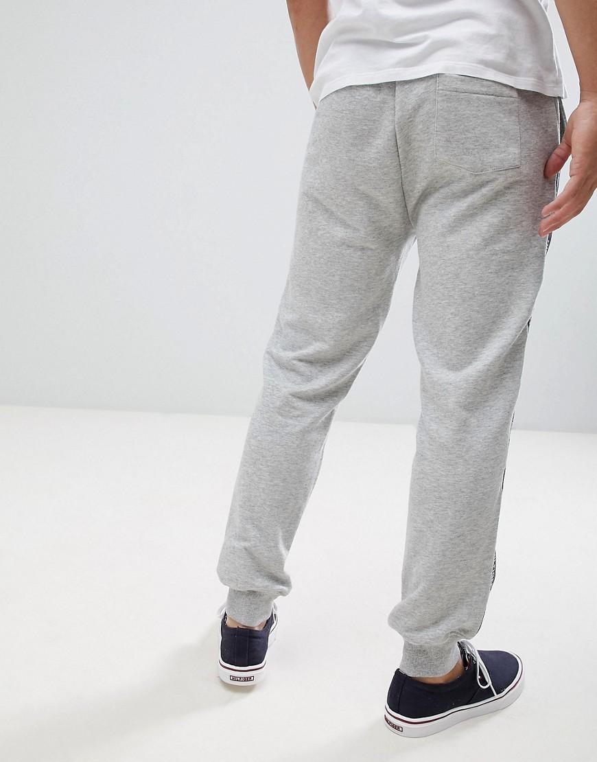 14098471 Tommy Hilfiger Authentic Cuffed Lounge joggers Side Logo Taping In Grey Marl  in Gray for Men - Lyst