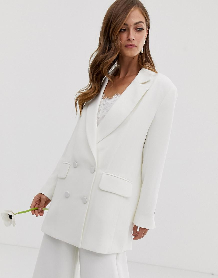 b624625f274 Lyst - ASOS Double Breasted Wedding Jacket in White