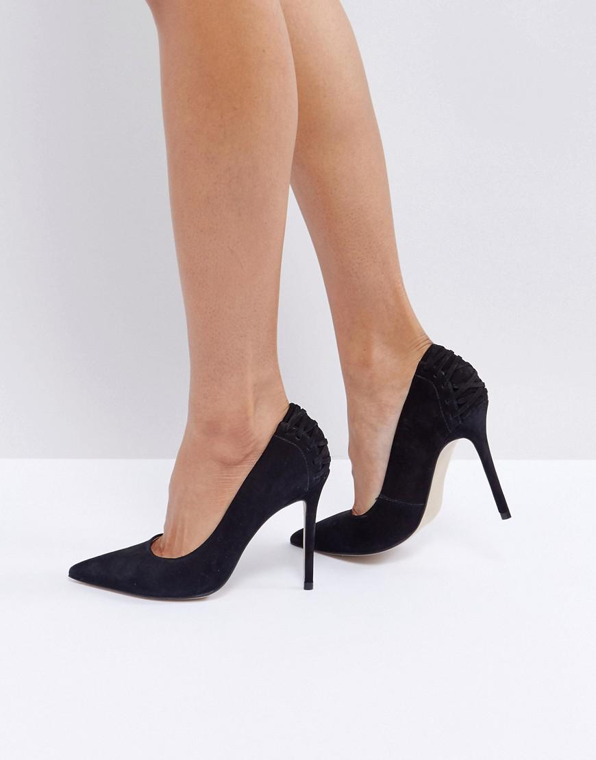 9e161c50c33 Lyst - Steve Madden Paiton Corset Back Heeled Shoes in Black