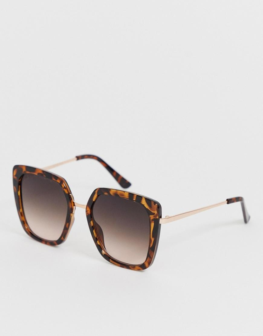 2ee6b17d57 New Look Oversized 70 s Sunglasses In Dark Brown in Brown - Lyst
