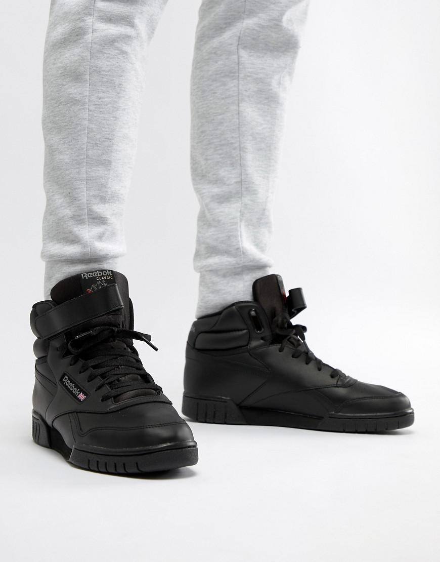 0afb91c5653d94 Reebok Ex O Fit Hi Top Trainers In Black 3478 in Black for Men - Lyst