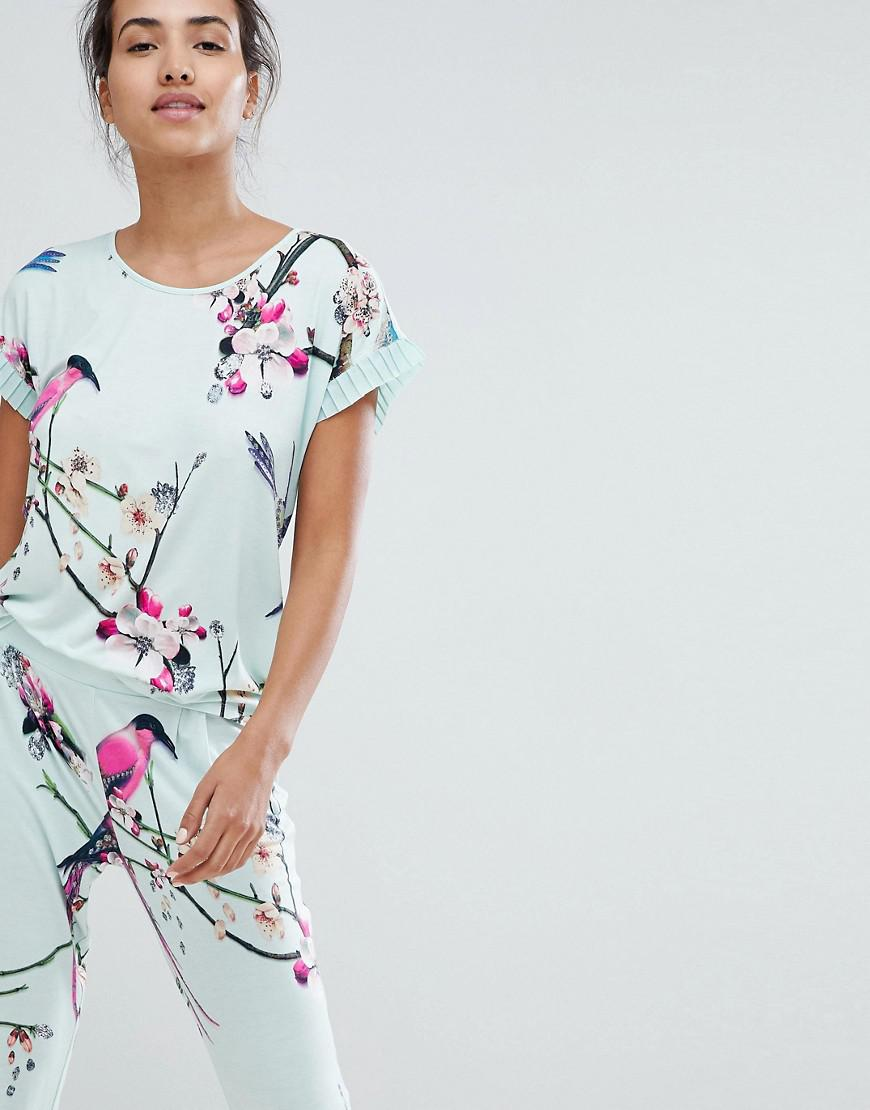 e8deaa99a Ted Baker B By Flight Of The Orient Mint Printed Jersey Tshirt in ...