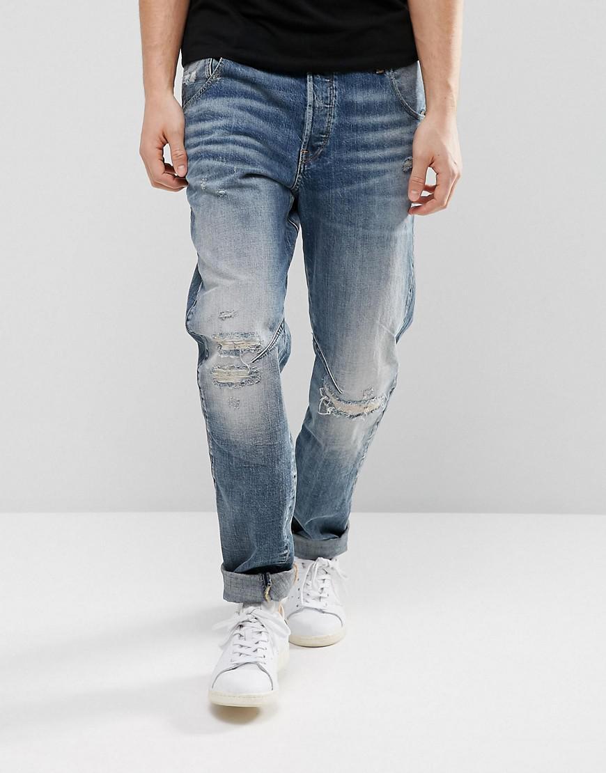 85b1b618cd5 G-Star RAW Arc 3d Tapered Jeans Medium Aged Restored 156 Wash in ...