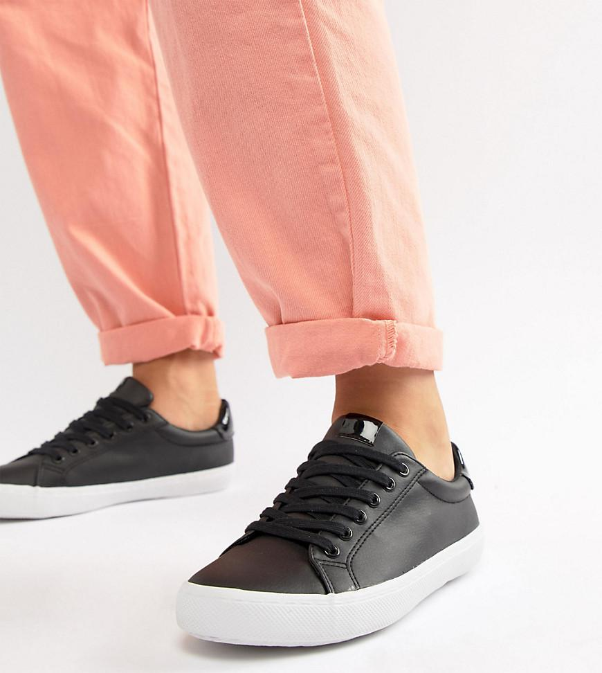 e93b725e874d Lyst - ASOS Wide Fit Dustin Lace Up Sneakers in Black