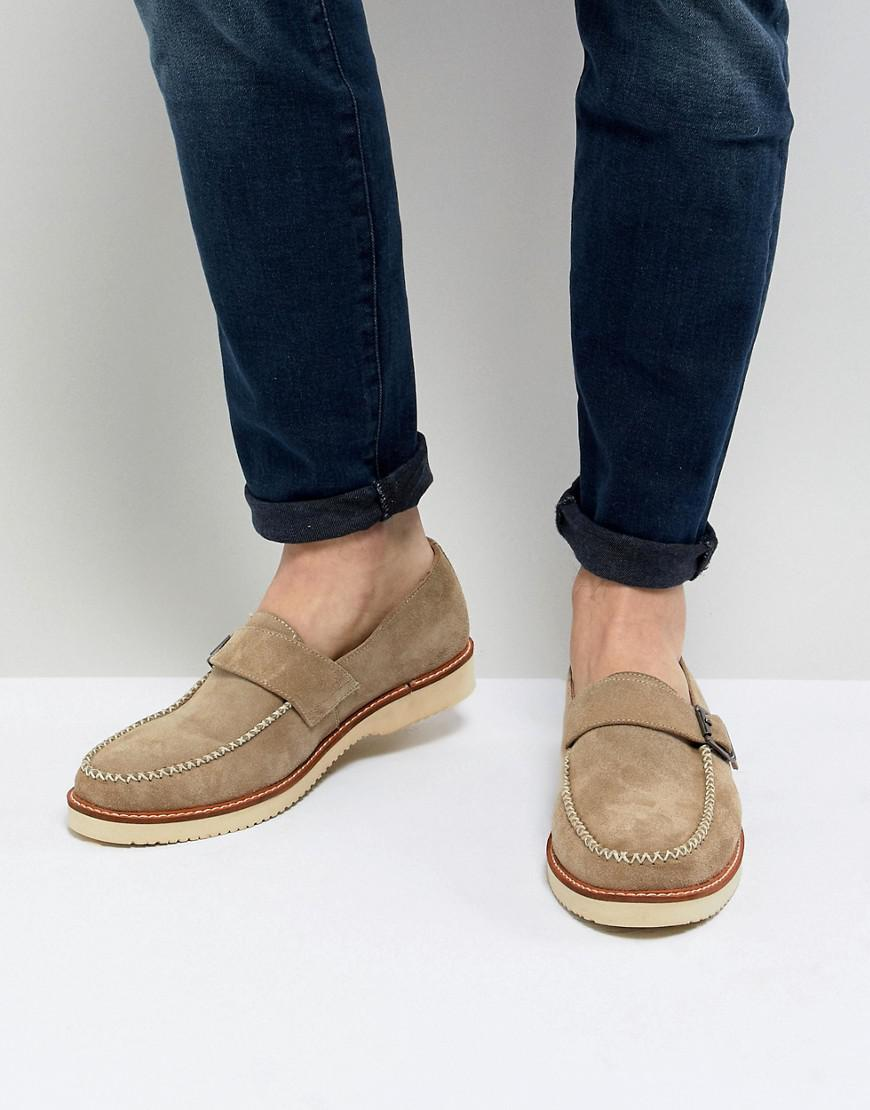 clearance pay with visa Farah Ramone Suede Monk Shoes With Chunky Sole sale exclusive gsG8KIJY