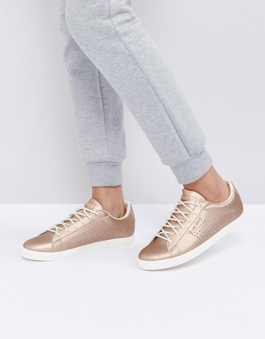 eaaf4bb17098 Lyst - Le Coq Sportif Rose Gold Metallic Agate Lo Trainers in Pink