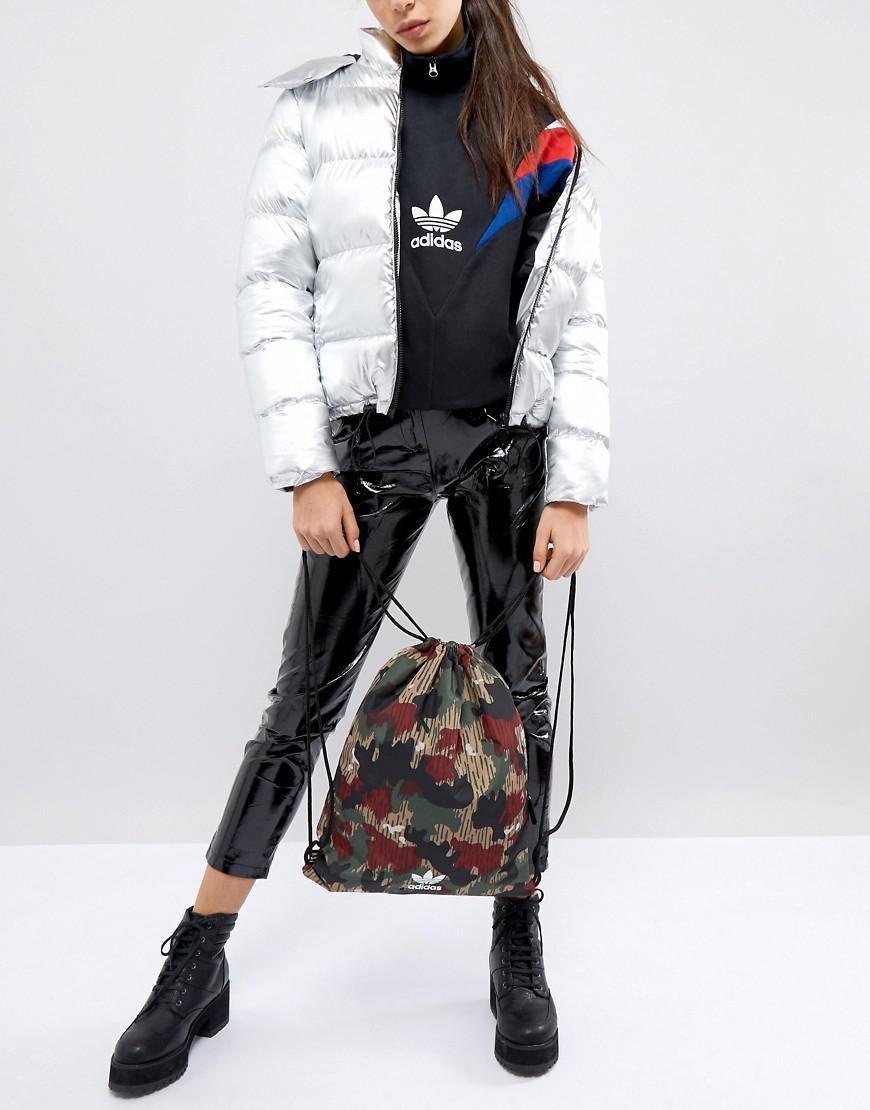 89d7ddad64eed Adidas Originals - Multicolor Originals X Pharrell Williams Hu Camo  Drawstring Bag - Lyst