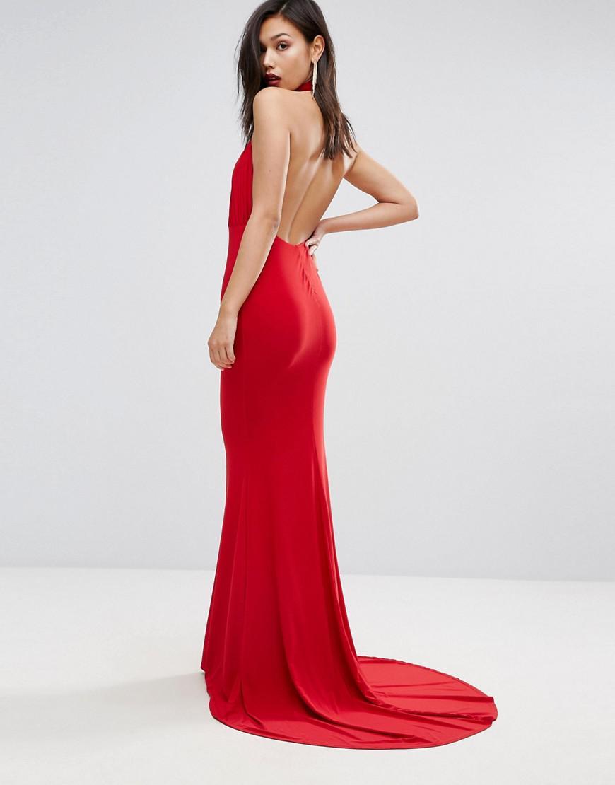 13c02787ca6 Club L Plus Open Back Maxi Dress With Fishtail