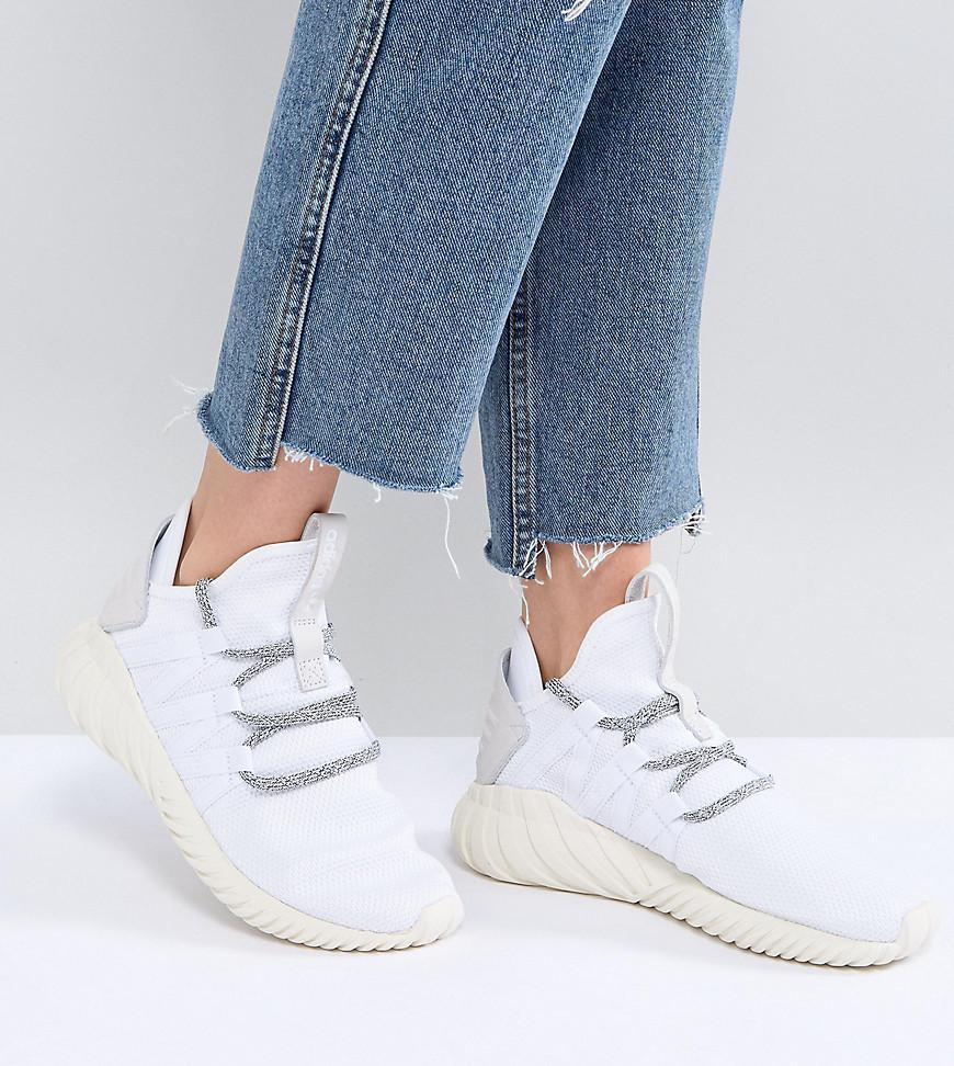 huge discount a24cc 939d1 adidas Originals Tubular Dawn Trainers In White in White - L