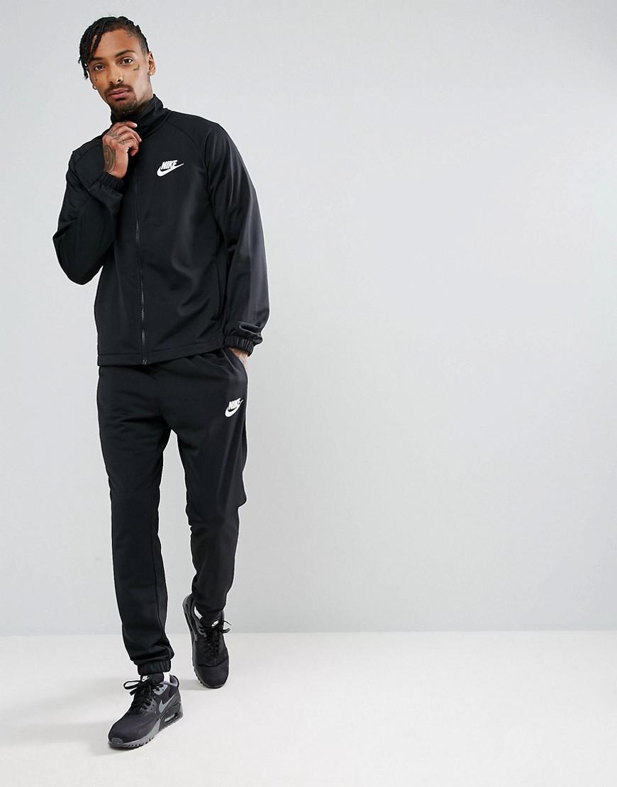4f9714aa66 Nike Polyknit Tracksuit Set In Black 861780-010 in Black for Men - Lyst