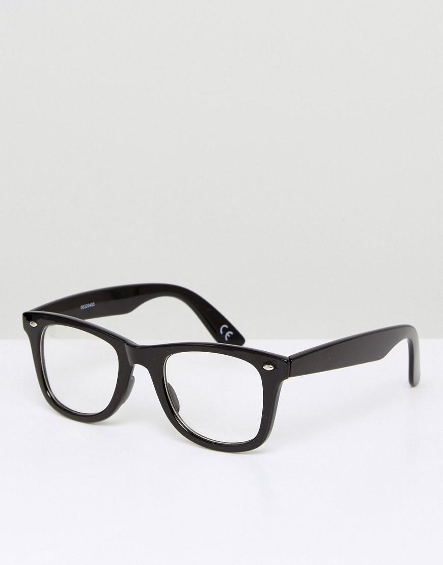 caca98b67c0 Lyst - ASOS Square Glasses In Black With Clear Lens in Black for Men