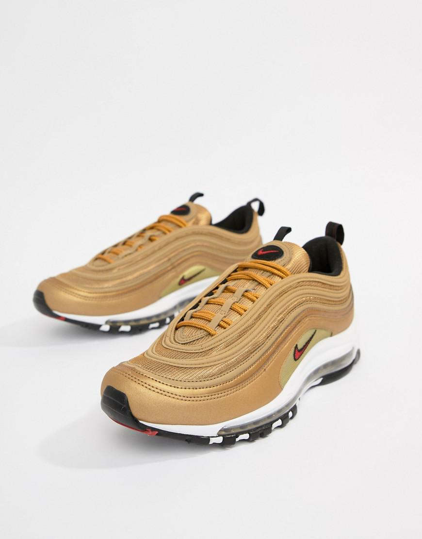 f7d1d860c1 Nike Air Max 97 Trainers In Gold 884421-700 in Metallic for Men - Lyst
