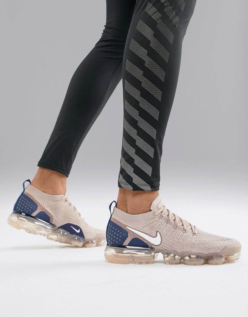 08602f4cec9d Nike Vapormax Flyknit 2 Sneakers In Beige 942842-201 in Natural for ...