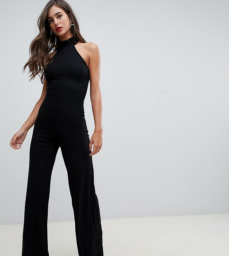 2c293a3010d0 ASOS Asos Design Tall Halter Neck Jumpsuit in Black - Lyst