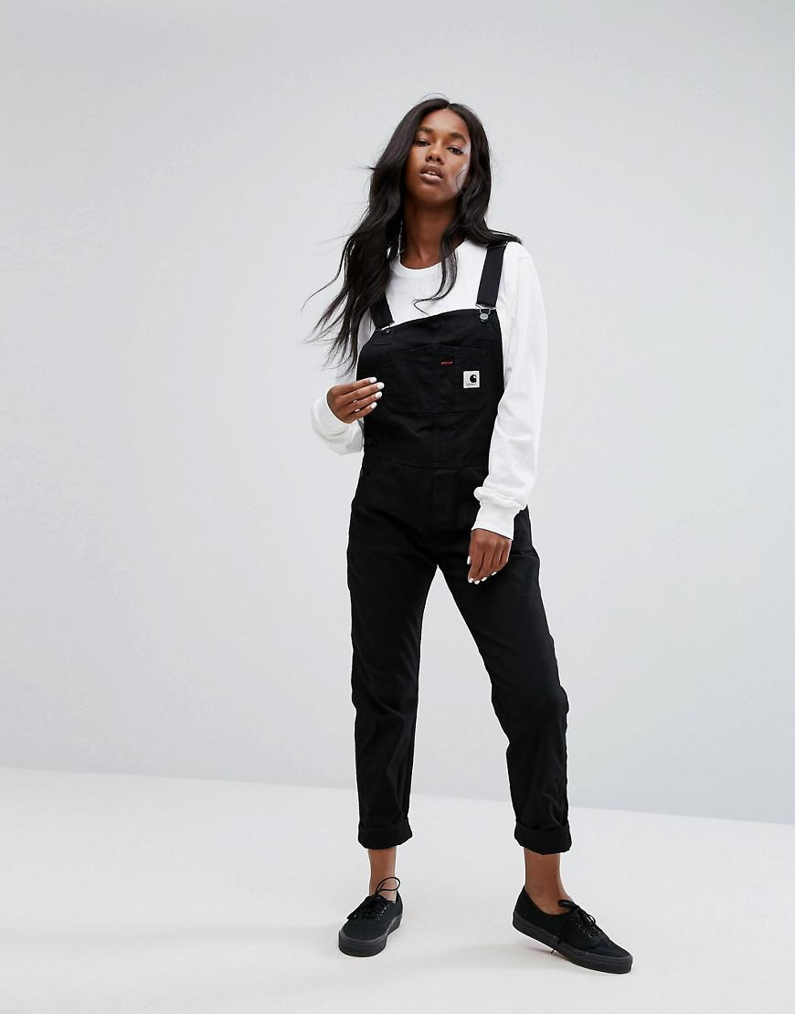 b9be883aa752 Lyst - Carhartt WIP Relaxed Overalls In Stretch Canvas in Black