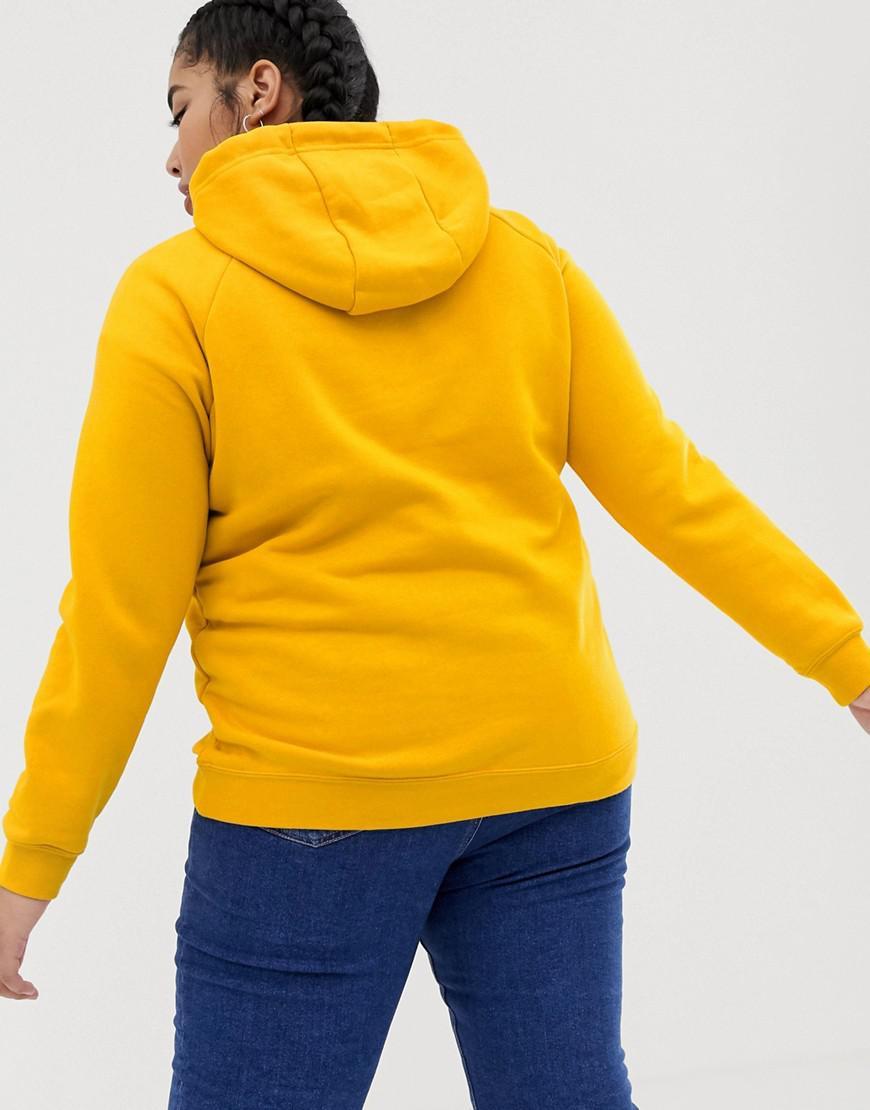 ae8ac947af2b Nike Plus Rally Yellow Swoosh Logo Hoody in Yellow - Save 39% - Lyst